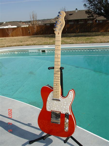 Fender Usa Candy Tangerine American Deluxe Telecaster