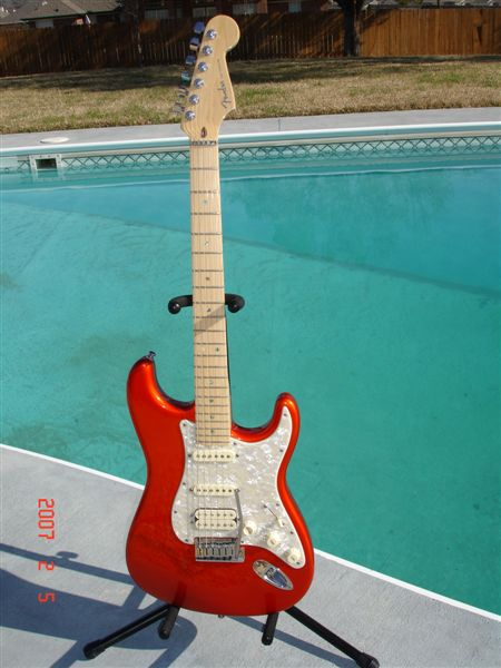 Fender American Deluxe Hss Stratocaster Candy Tangerine Lsr Roller