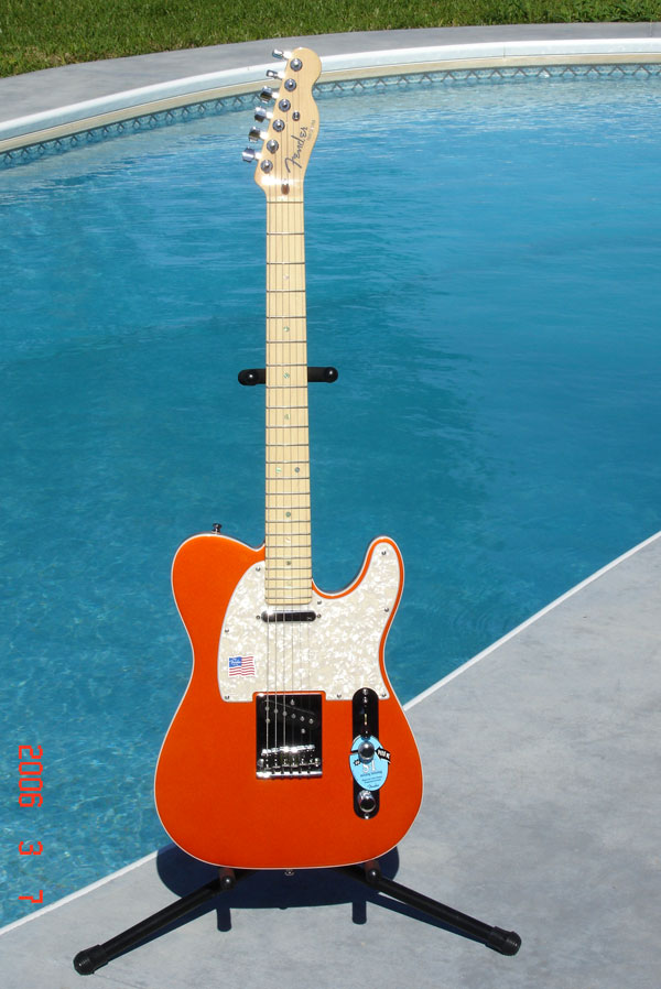 Fender American Dlx Candy Tangerine Tele by Sarge in Sarge's Gear Collection