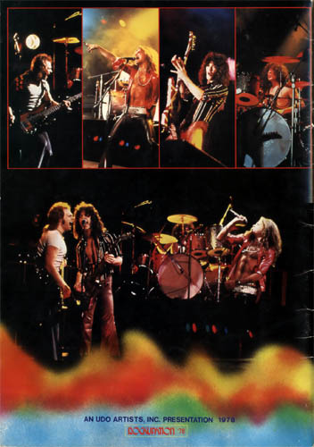 Back Cover by Cato in VAN HALEN 1978 TOUR BOOK
