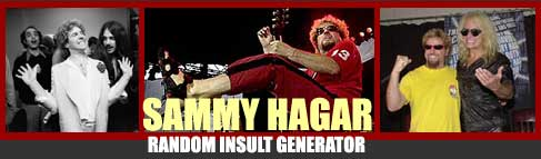 Sammy Hagar Is Not A RockStar!